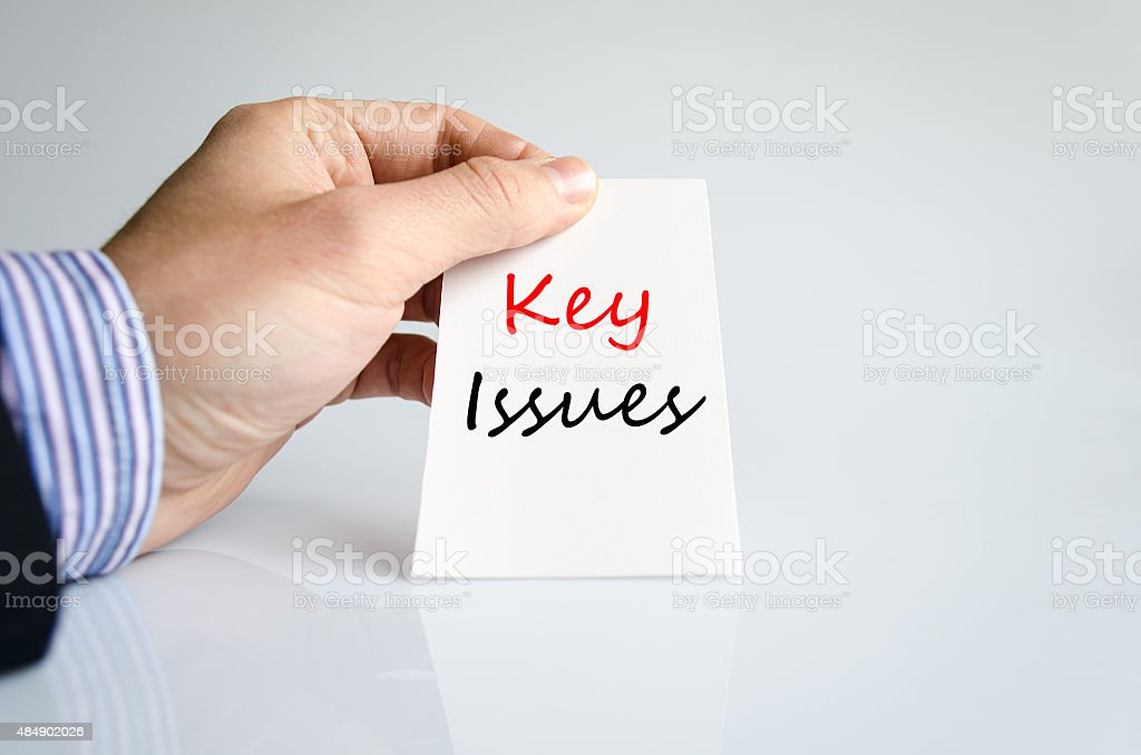 Key issues Text Concept stock photo