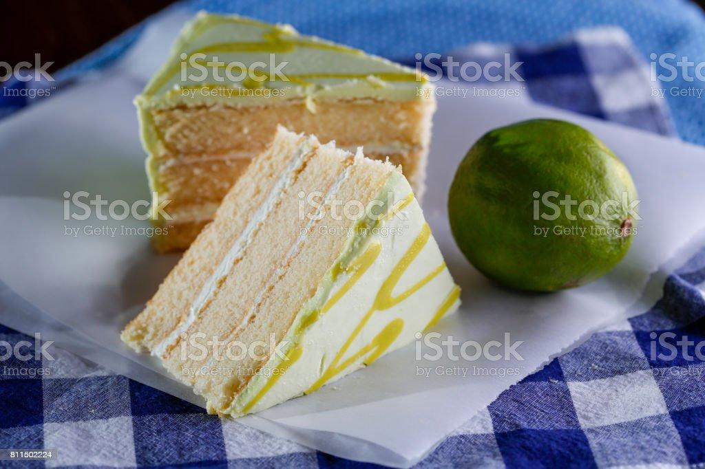 Key Lime Cake stock photo