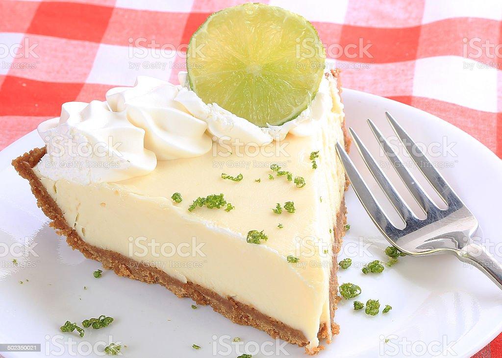 Key Lime Pie Closeup stock photo