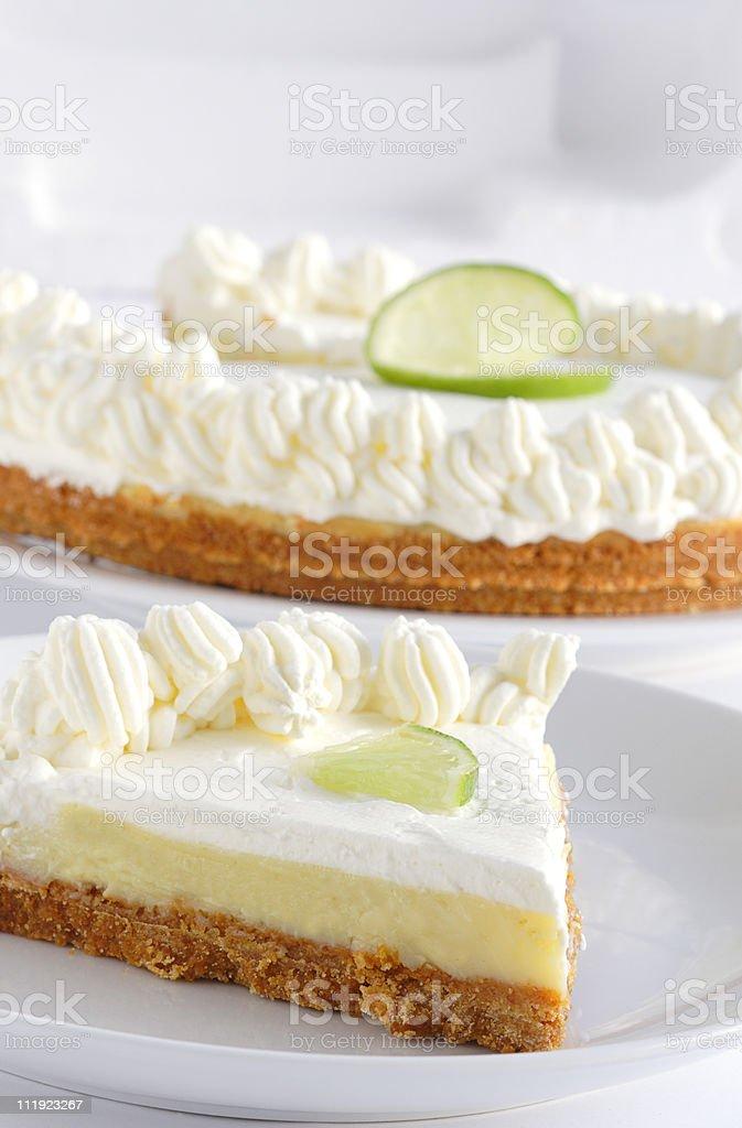 Key lime pie stock photo