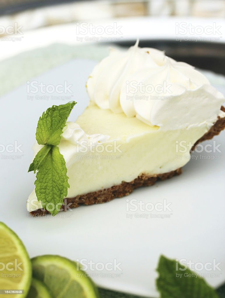 Key Lime Pie Vertical Image stock photo