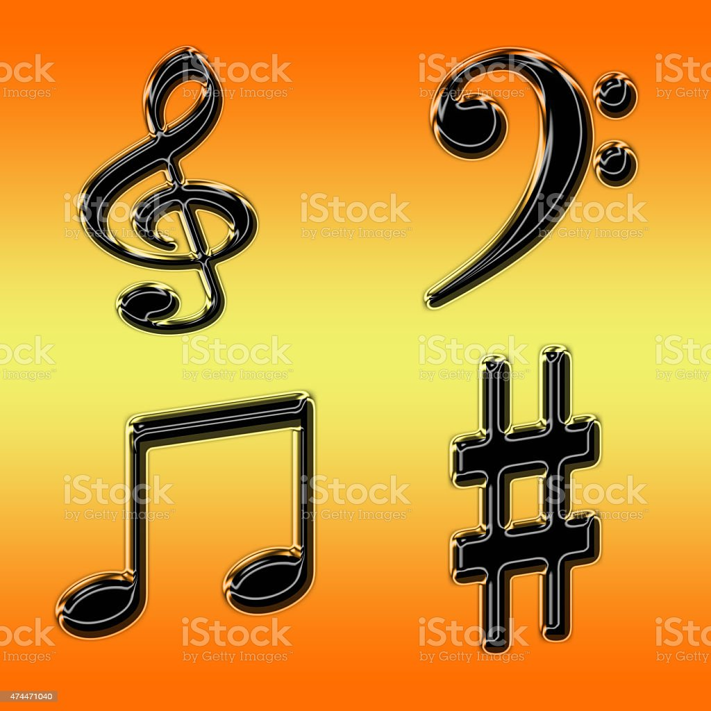 Clef, notes stock photo