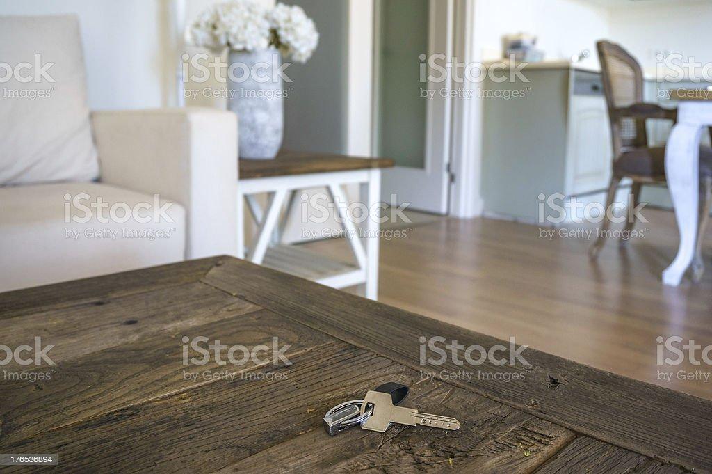 key on table royalty-free stock photo