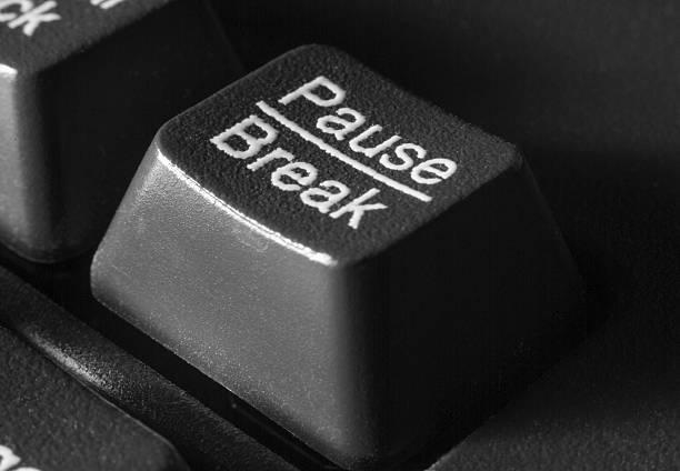 key pause/break on the computer keyboard stock photo