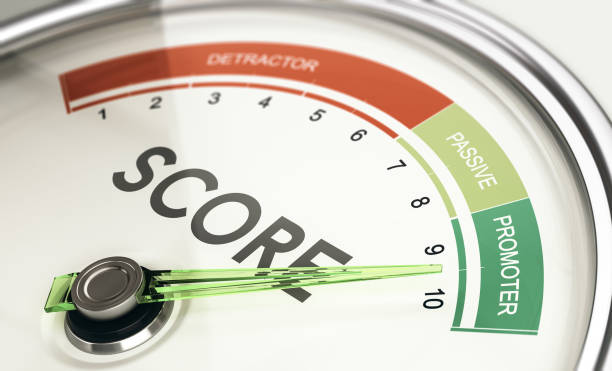 KPI, Key Performance Indicator, Net Promoter, Score From Detractor to Promoter. stock photo