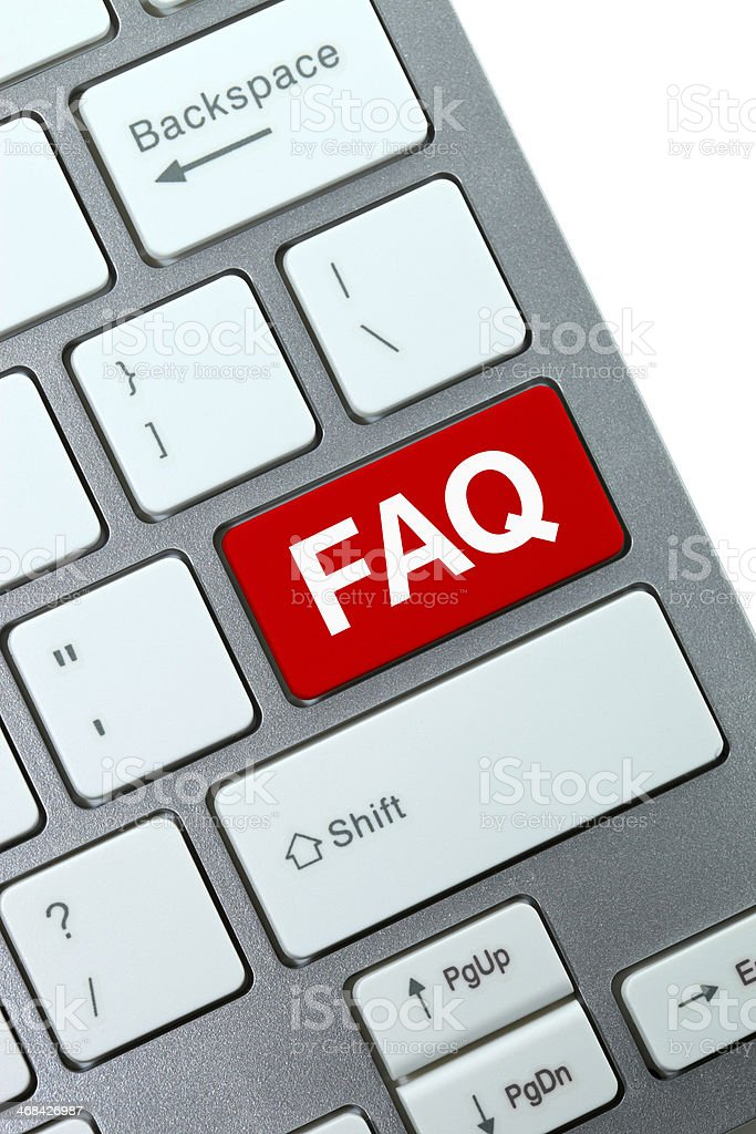 FAQ Key royalty-free stock photo