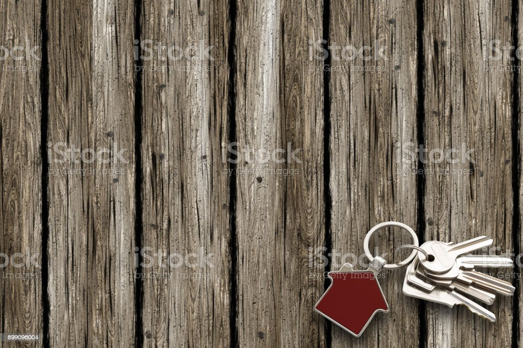 Key Ring with copy space stock photo