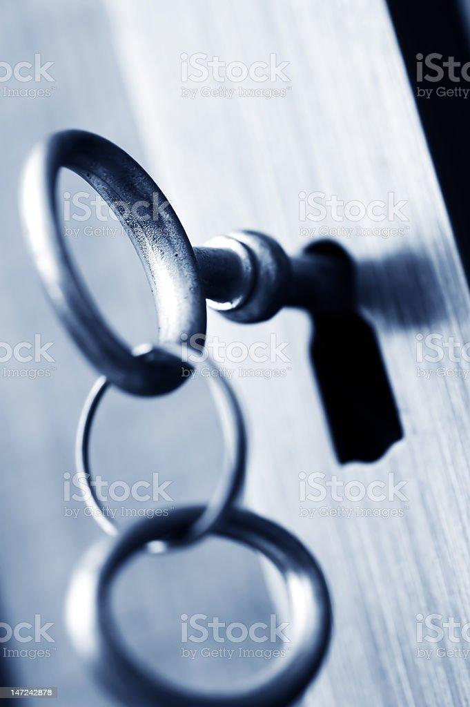 CLOSED - key security royalty-free stock photo