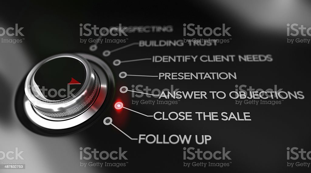 Key Selling Points, Sales Process Illustration stock photo