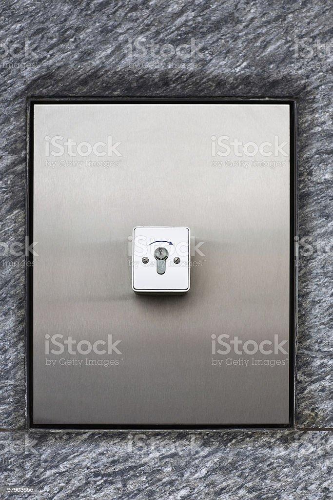 Key switch royalty-free stock photo