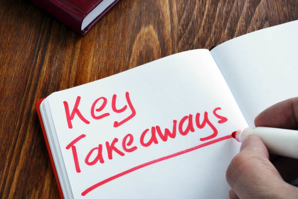 key takeaways written by man in the note. - key stock pictures, royalty-free photos & images