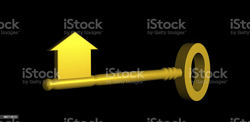 Key to a new House (Concept) royalty-free stock photo
