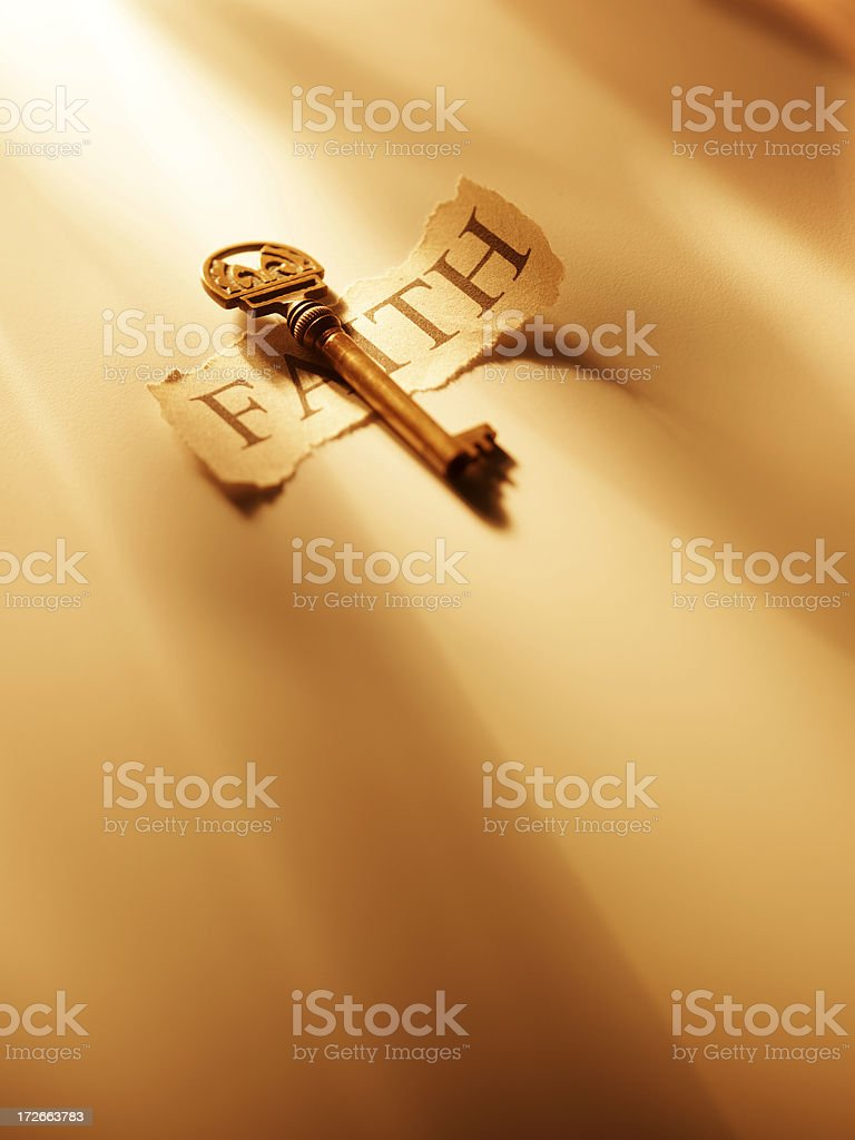 Key to Faith stock photo