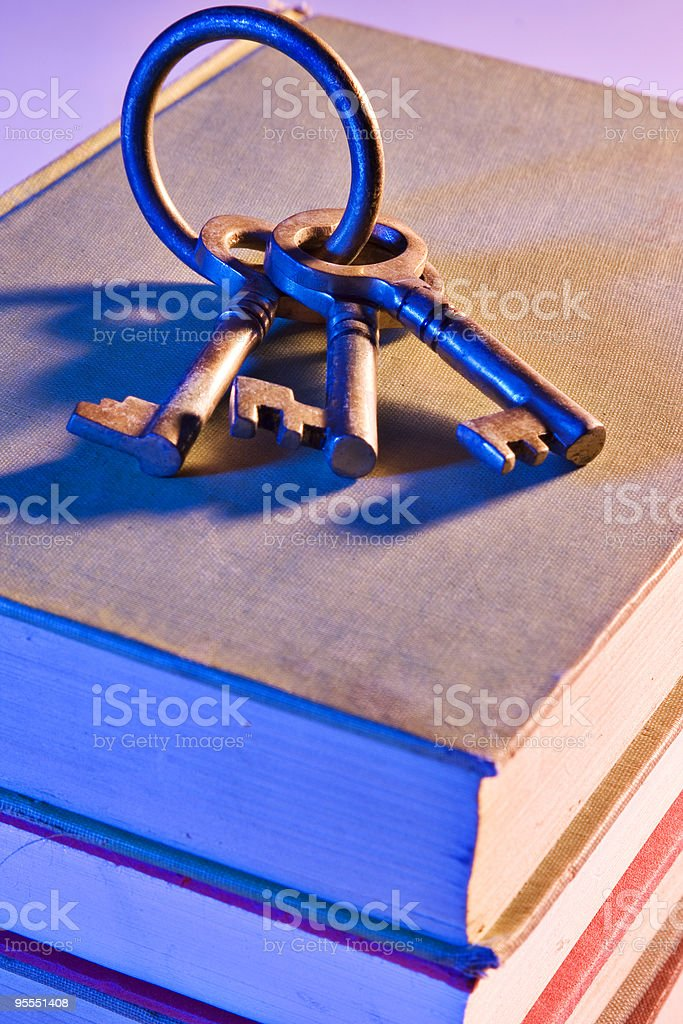 Key to learning stock photo
