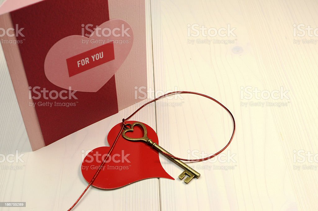 Key to my heart concept royalty-free stock photo