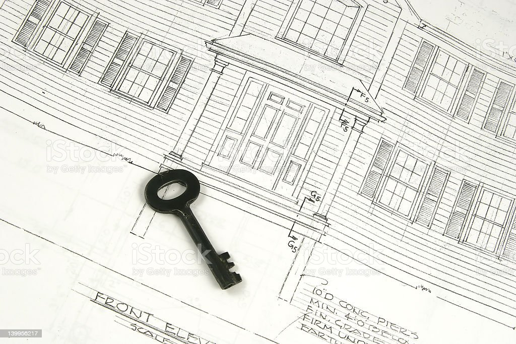 key to new home royalty-free stock photo