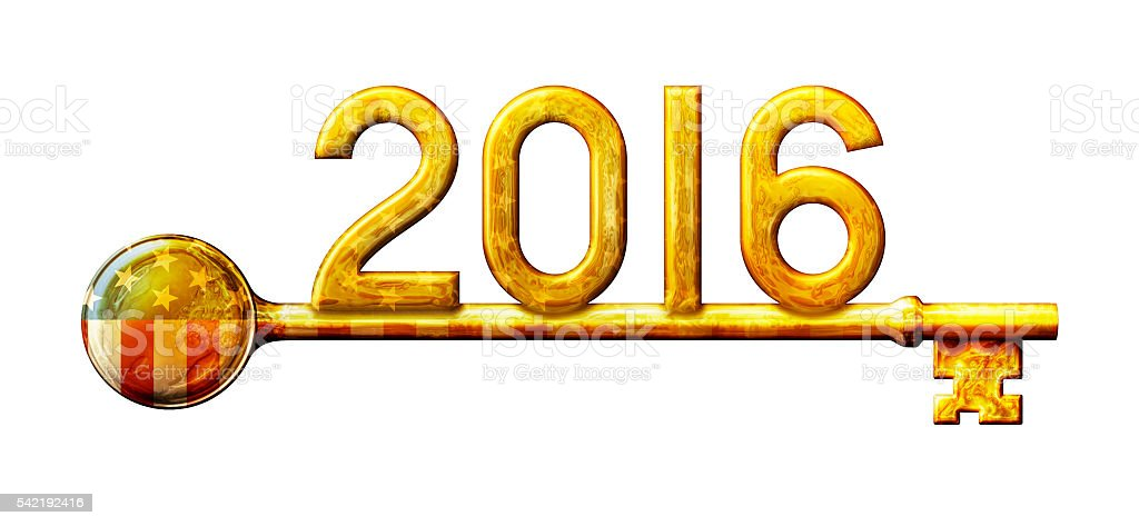 2016 Key to Political Victory stock photo