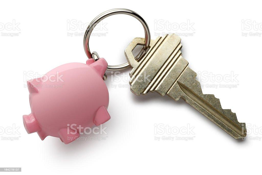 Key To Savings royalty-free stock photo