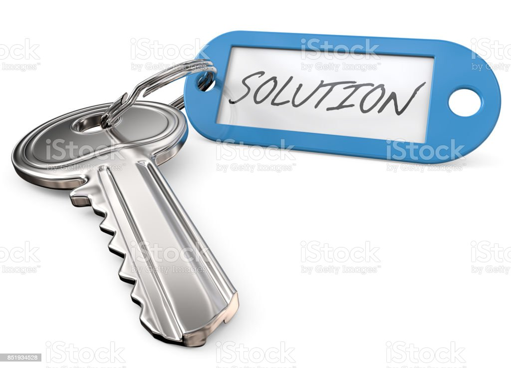 Key to Solution. stock photo