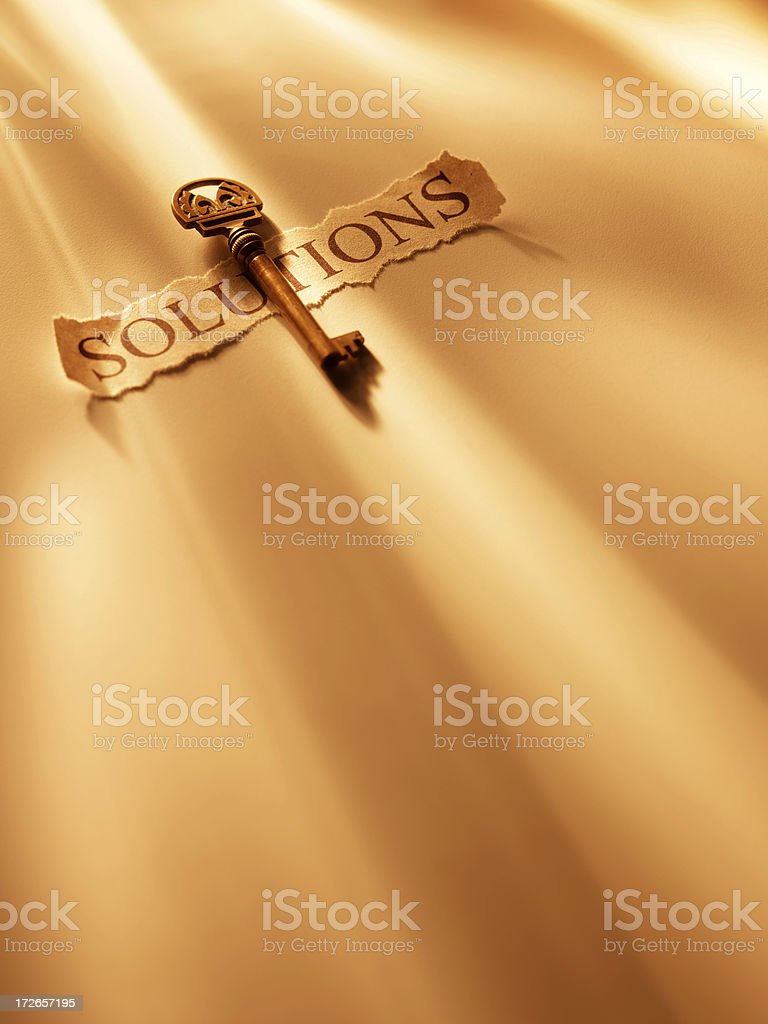 Key to Solutions royalty-free stock photo