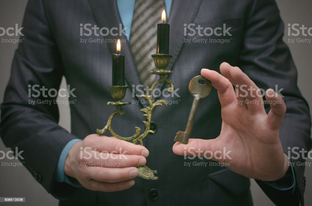 Key to success. Business concept. Find a key to wealth. stock photo