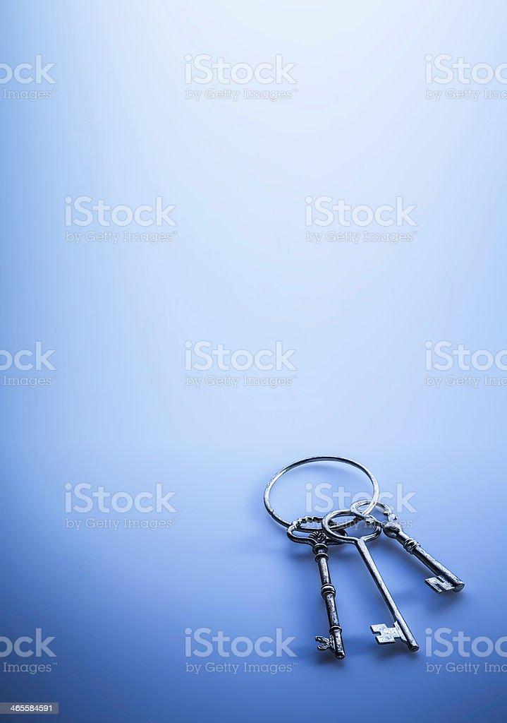 Key to Success in Blu stock photo