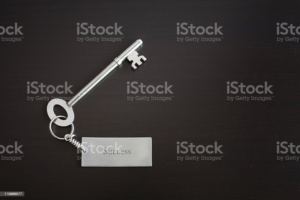 Key to success stock photo