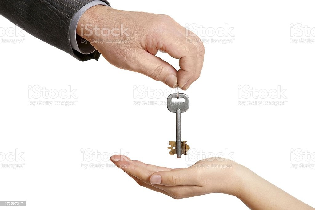Key to the happiness royalty-free stock photo