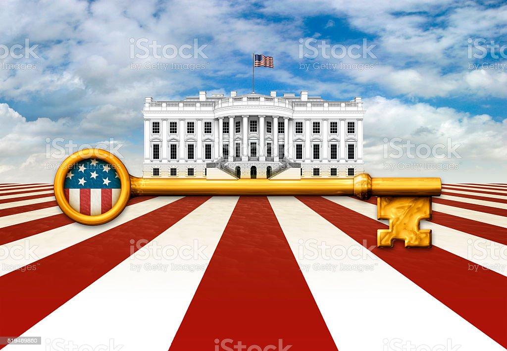Key to the White House stock photo