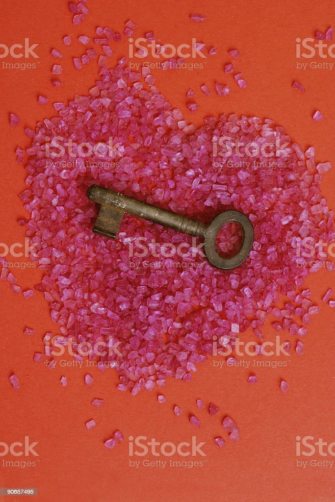 key to your heart royalty-free stock photo