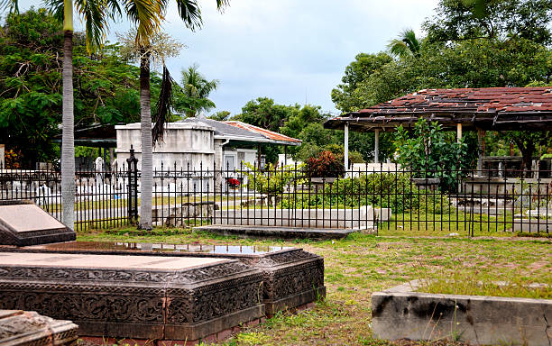key west cemetery - mike cherim stock pictures, royalty-free photos & images