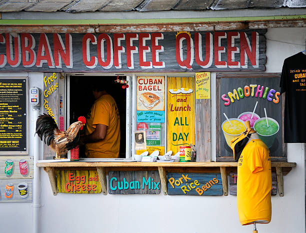 key west cuban coffee purveyor - mike cherim stock pictures, royalty-free photos & images