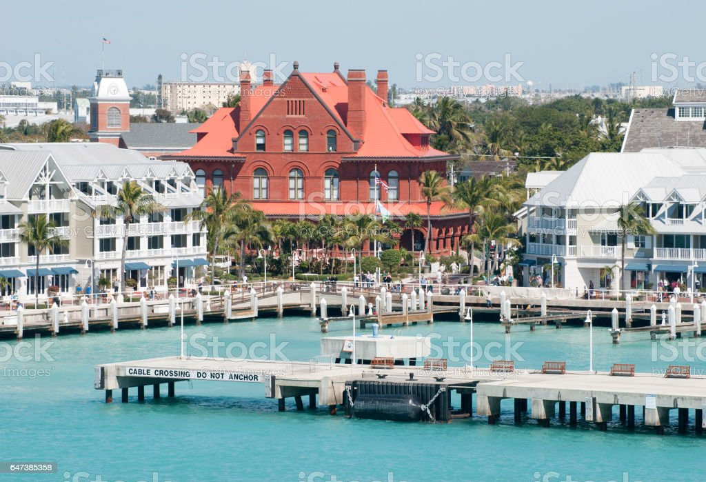 Key West Downtown stock photo
