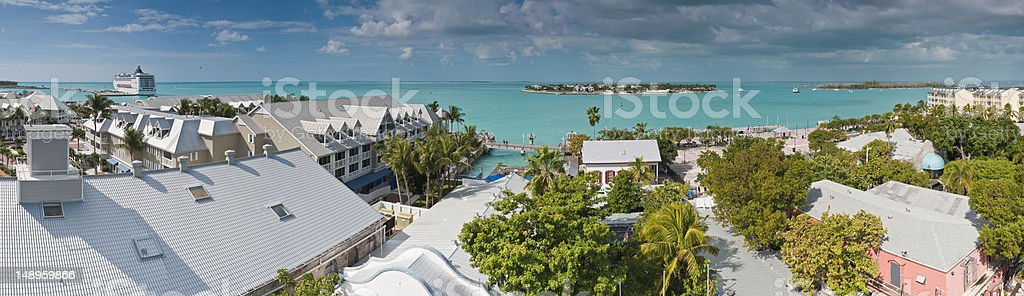 Key West Florida turquoise ocean stock photo