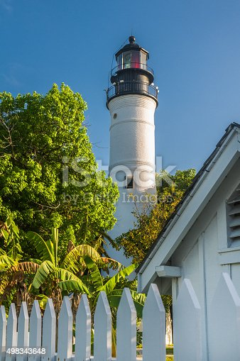 The 73 foot Key West Lighthouse was first lit in 1849