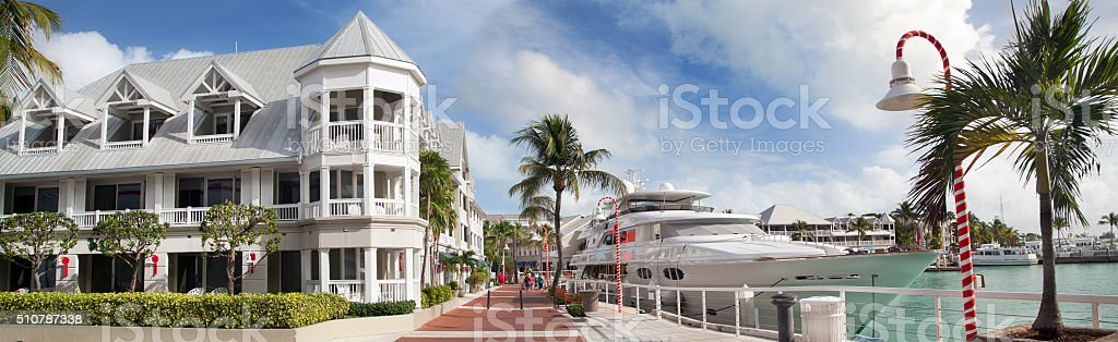 Key West Promenade, panoramic view, Florida, USA stock photo
