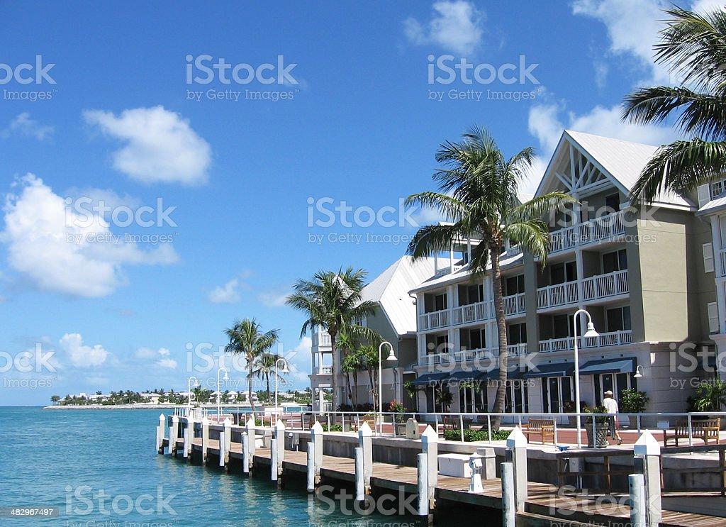 Key West seafront stock photo