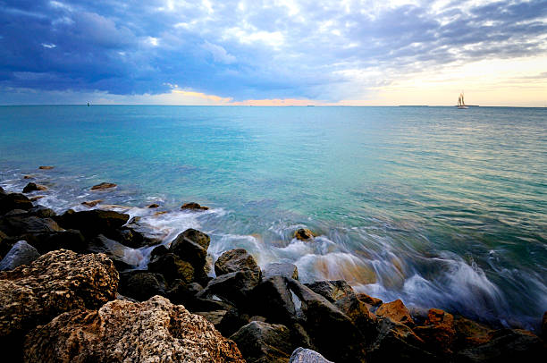 key west shore - mike cherim stock pictures, royalty-free photos & images
