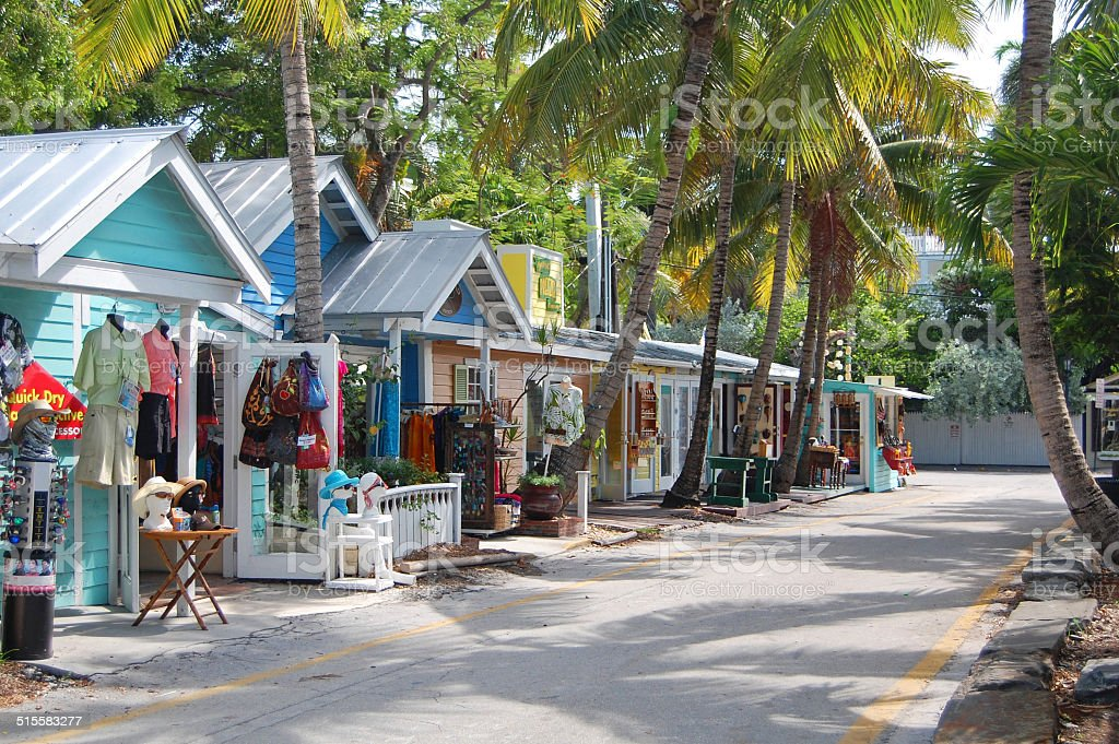 key west street stock photo