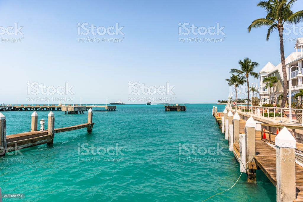 Key West Waterfront near Mallory Square stock photo