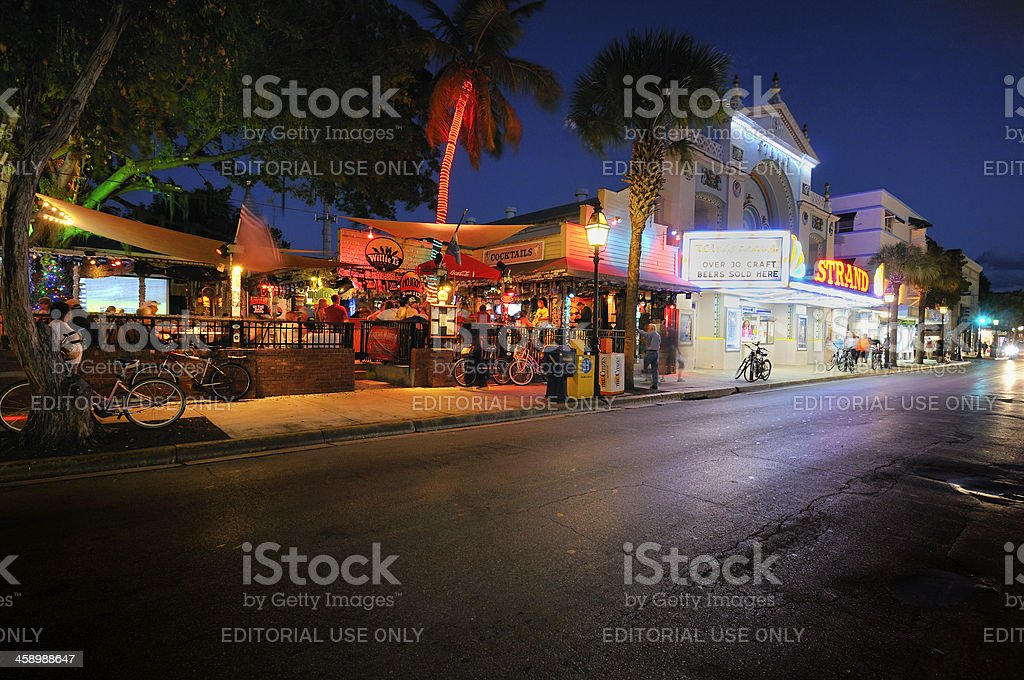 Key West: Willie T's and Duval Street stock photo