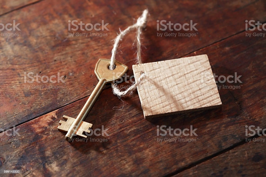 Key With Label stock photo