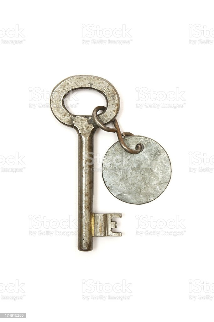 Key with Metal Tag royalty-free stock photo