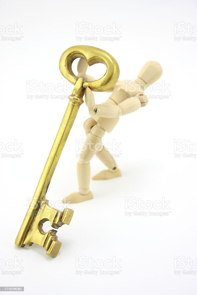 Key with the man royalty-free stock photo
