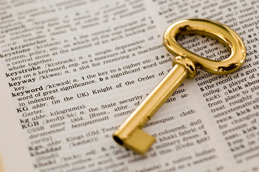 Key Words Stock Photo - Download Image Now