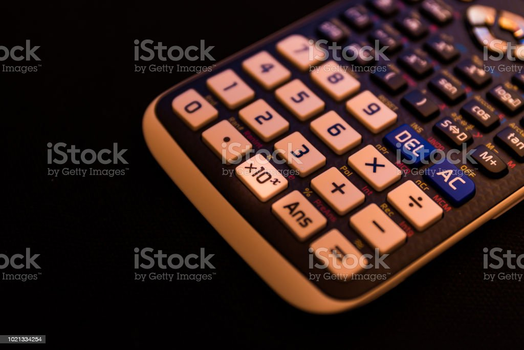 Key x10 of a scientific calculator stock photo
