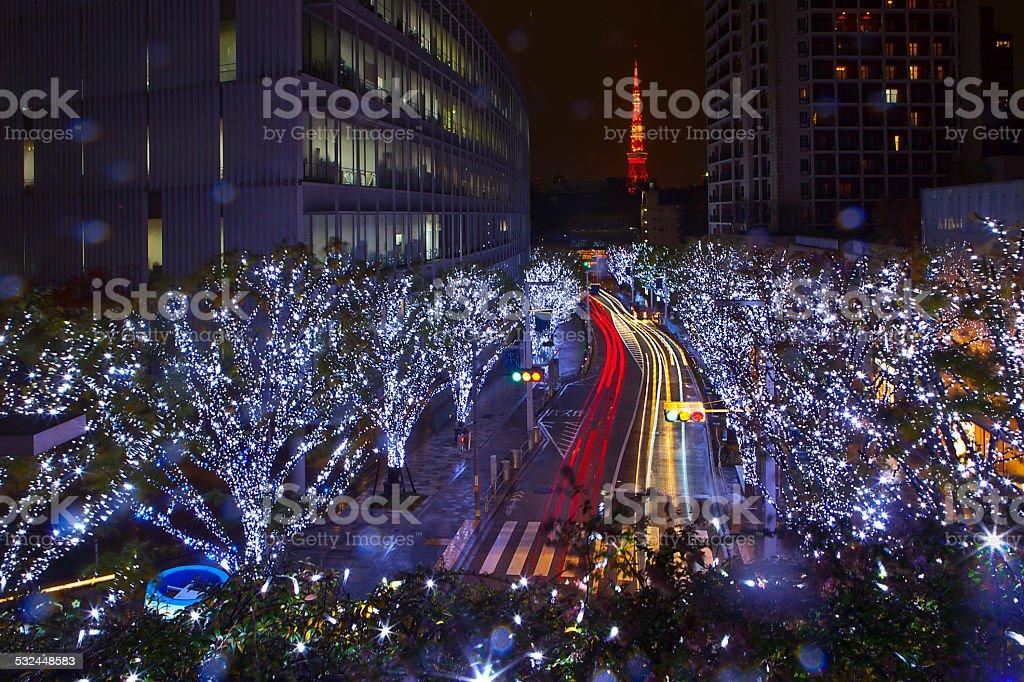 Keyakizaka Street in Roppongi Hills stock photo