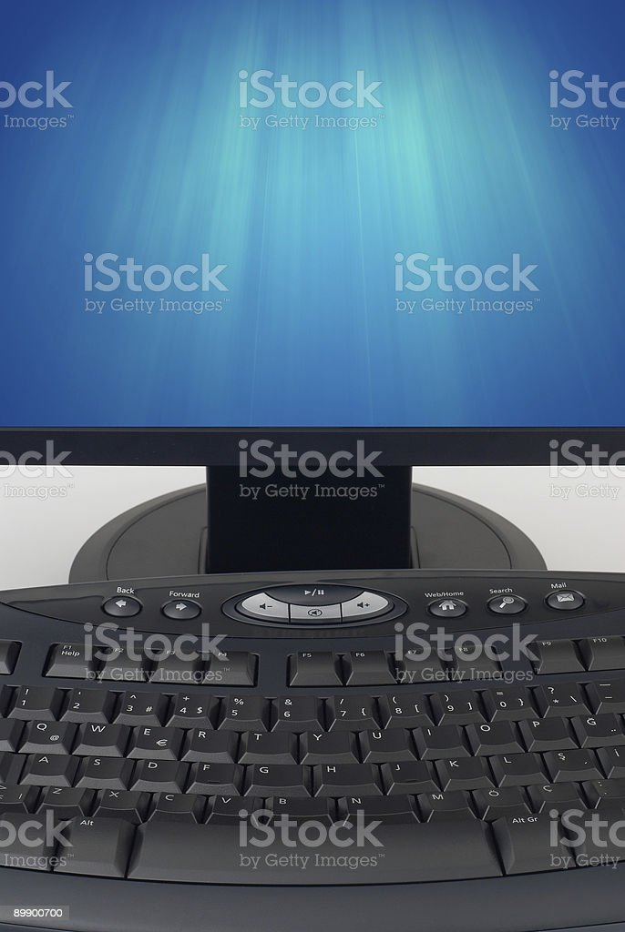 Keyboard and Bright LCD royalty free stockfoto