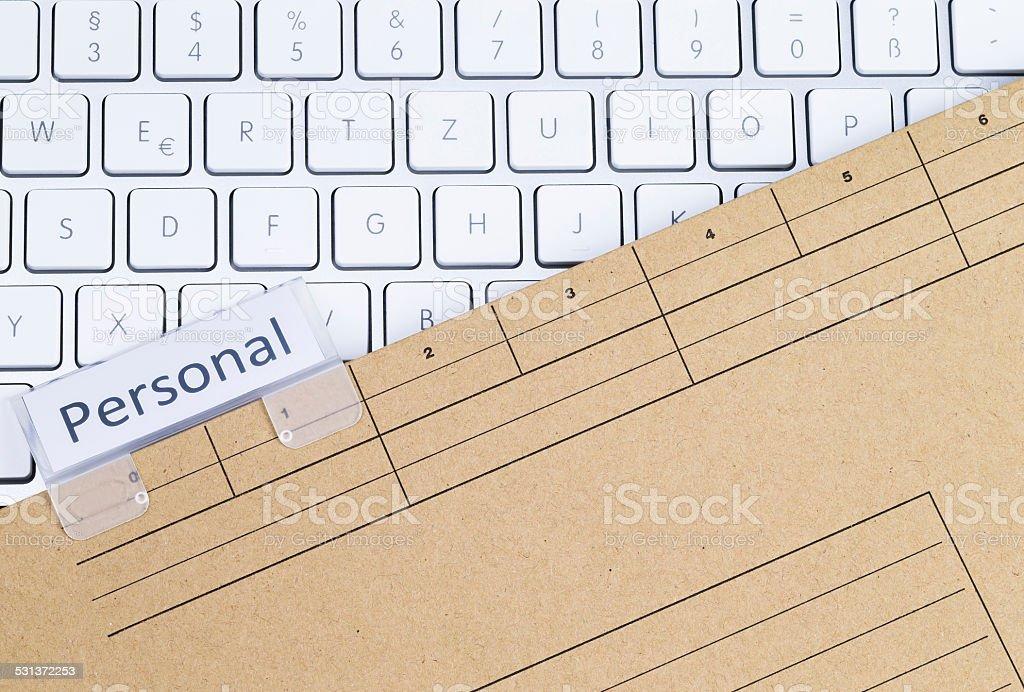 Keyboard and folder personal stock photo
