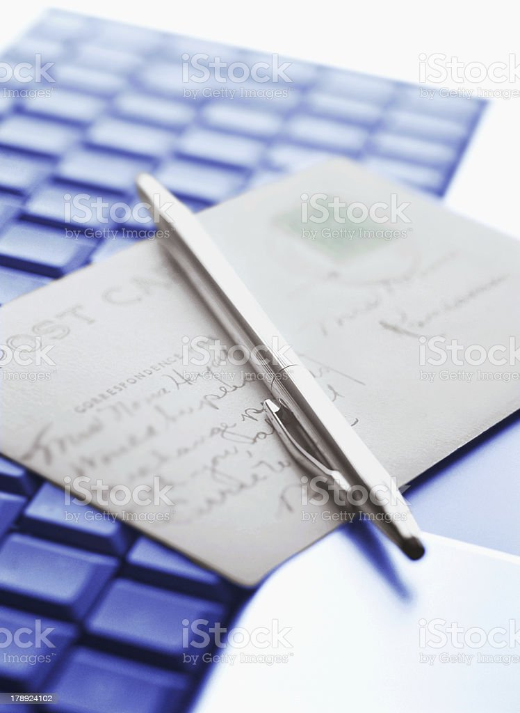 keyboard and letter royalty-free stock photo